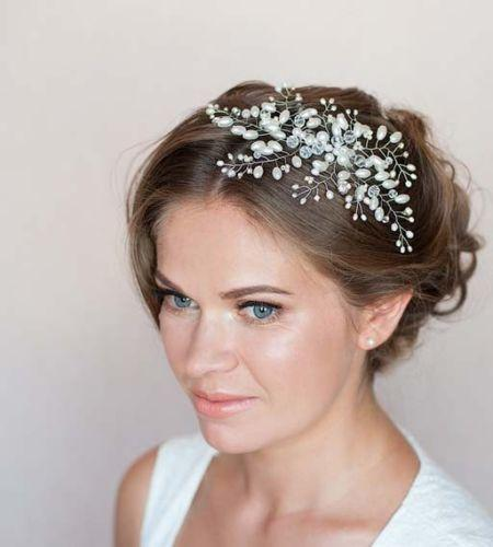 The bride accessories exquisite handmade pearl hair comb dress wedding dress accessories bridal accessories