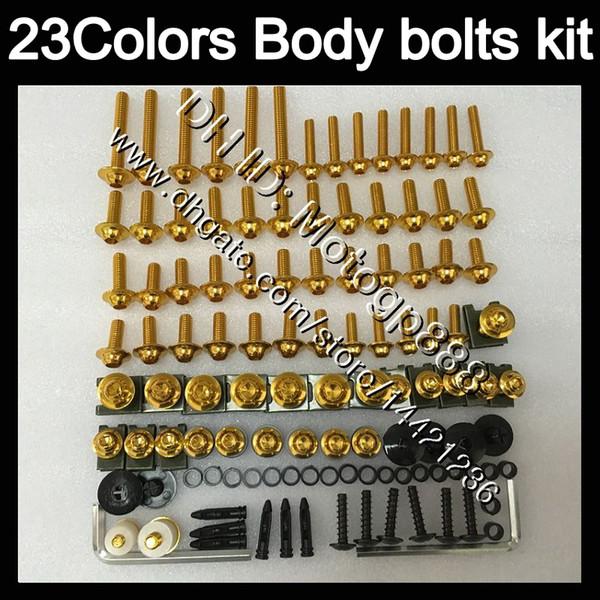 Kit de tornillos completos para YAMAHA YZF R3 R25 14 15 16 YZF-R3 YZF-R25 YZFR3 YZFR25 2014 2015 16 Tornillos de tuerca kit de pernos de tuerca 23 colores
