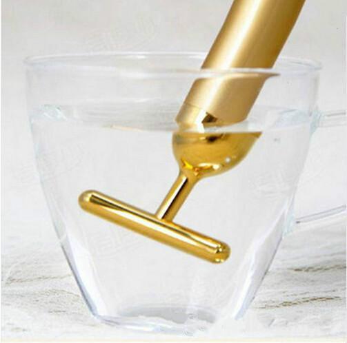 Technology From Japan 24K Beauty Bar Golden Derma Roller Energy Face Massager Beauty Care Vibration Facial Massage Electric