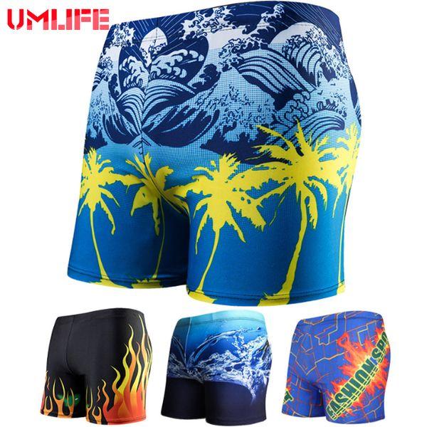 UMLIFE Swimwear Uomini Sexy Costume da bagno Trunks Bathing Beach Biancheria intima Estate per uomo Swim short Quick Dry Surf Boxer Briefs