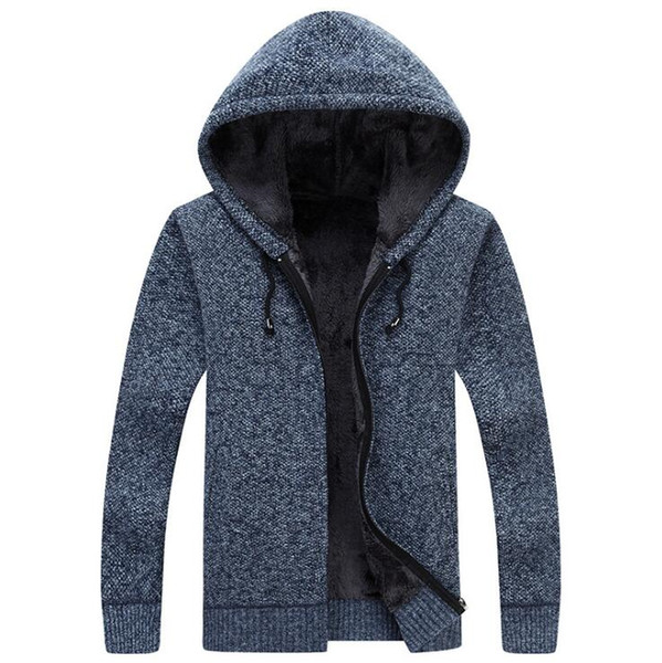 New winter plus size mens sweaters men thick long sleeve wool cardigan men sweater jacket casual knitted sweater clothing