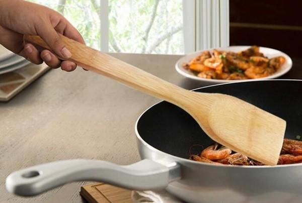 Besteck neue Natur Bambus Turners langen Griff nicht Stickt Pot Cook braten Ei Steak Fisch Kochutensilien Küche