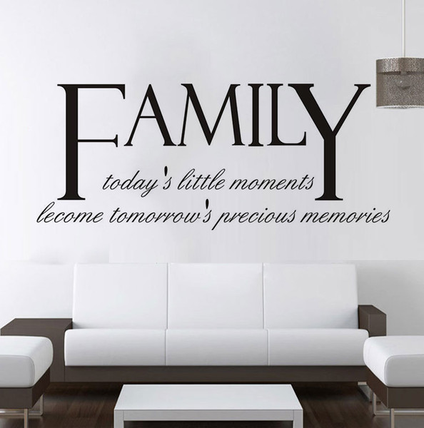 High Quality Family Quotes Wall Decals Vinyl Self Adhesive Letters And  Words Wall Art Stickers For Living Room Bedroom Decoration Decorating  Decals ...