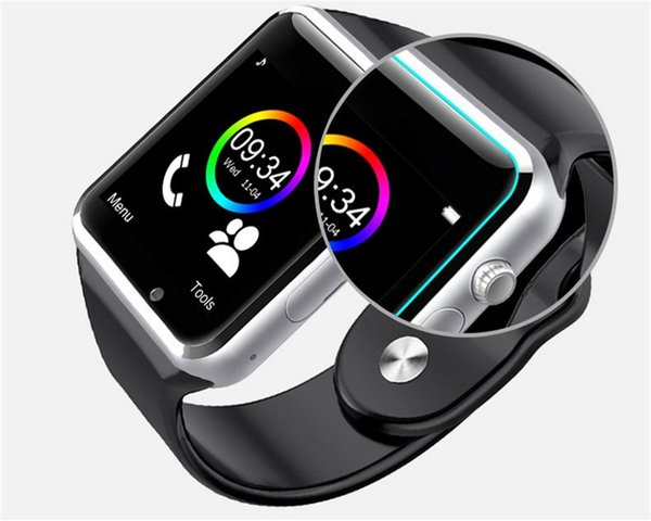 A1 Smart Watch Bluetooth Smartwatch per IOS iPhone Samsung Android Phone con fotocamera Orologio intelligente Smartphone Orologi sportivi