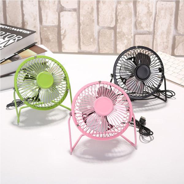 """Mini USB Electric Fan 4"""" Metal Head Fan 360 Rotate Metel Mute Radiator Fans Portable Cooler Cooling Desktop Power Laptop Fan"""