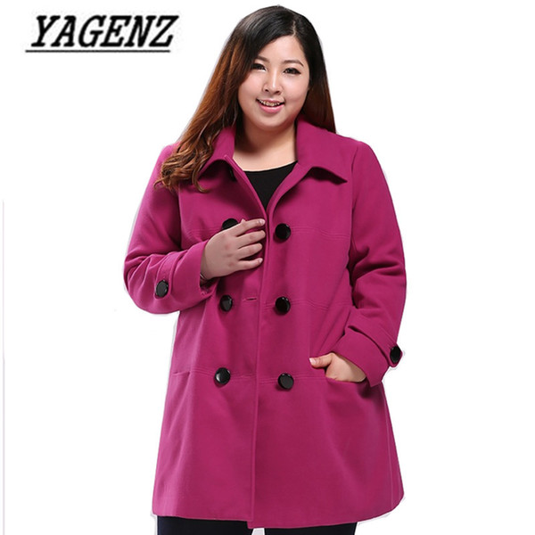 Oversized 6XL 7XL 8XL 9XL 10XL Autumn/winter Woolen Jacket Women Coat Korean Slim Long sleeves Wool Overcoat Casual Clothing L18100706