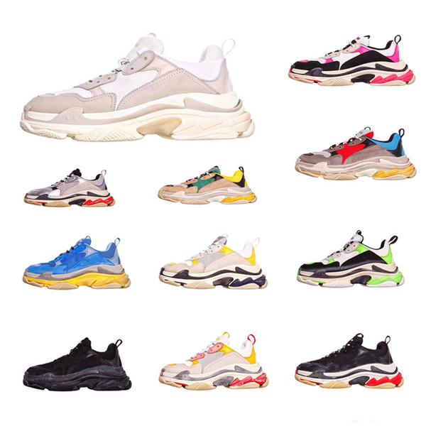 Ограниченные дешевые продажа модельер Марка Париж тройной S повседневная спортивная обувь лучшее качество Chaussures мода папа кроссовки 36-45