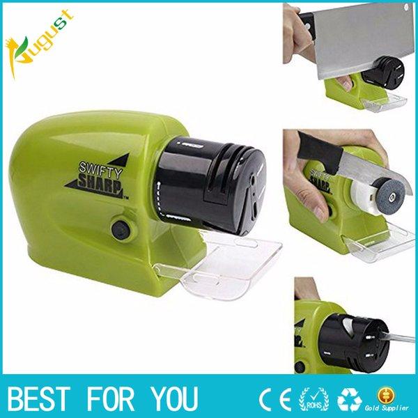 Aiguiseur de couteaux électrique Aiguiseur de couteaux motorisé sans fil multifonctionnel pointu et tranchant Sharp (341)