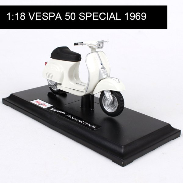 1:18 Motorcycle Models VESPA Piaggio 1969 VESPA 50 SPECIAL model bike Base Diecast Moto Children Toy For Gift Collection
