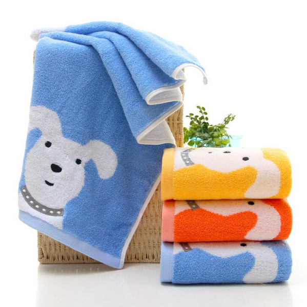 cartoon kids towel pupply dog pattern washcloth bathroom towels for face hand 2017 animal print textile