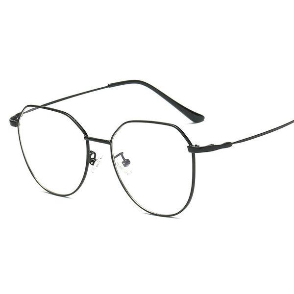Simvey New Fashion Blue Light Blocking Glasses Occhiali da gioco in metallo con telaio in metallo retro Occhiali da vista da donna