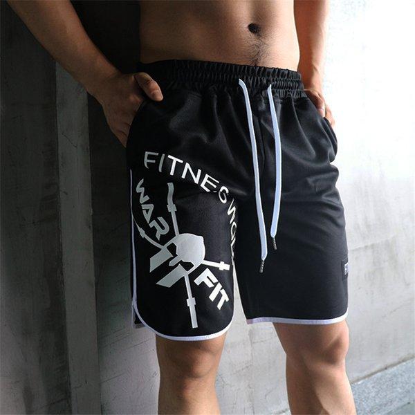 Yeni Moda Katı erkek Büyük boy Şort Yaz Erkek Plaj Şort Polyester Rahat Erkek spor egzersiz Marka Giyim
