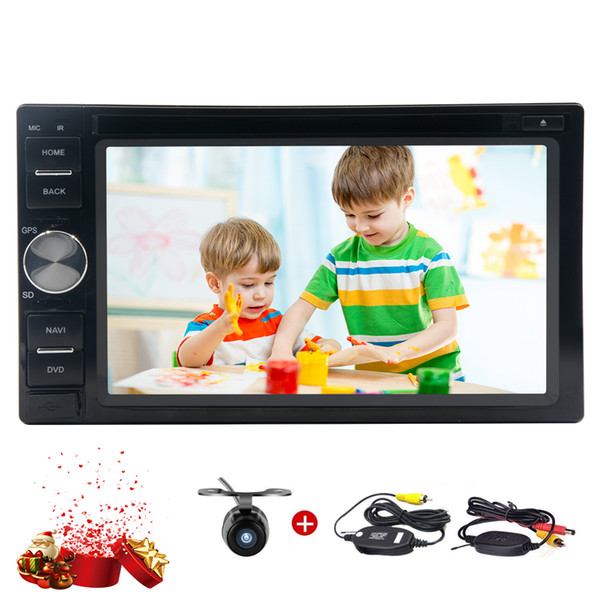 Wireless Back Camera Android 7.1 Car Stereo HD 1024*600 Multi-Touch Screen Bluetooth Autoradio car DVD CD Player USB /SD WIFI Internet 4G