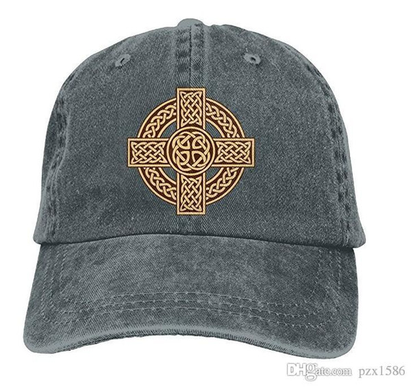 pzx @ Berretto da baseball per uomo e donna, Celtic Cross Irish Scottish Mens cotone regolabile Cap Hat Hat multicolore opzionale