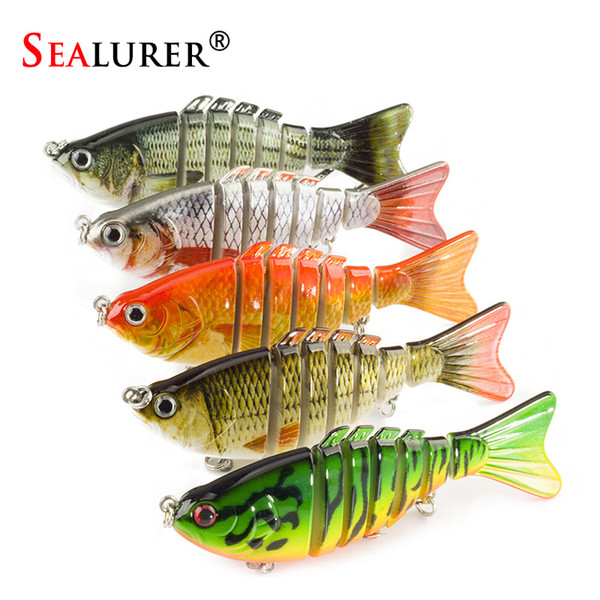 wholesale Swimbait 5Pcs/lot 10cm 12.5g Fishing Wobblers 7 Segments Bassbait Crankbait Fishing Lure Bait