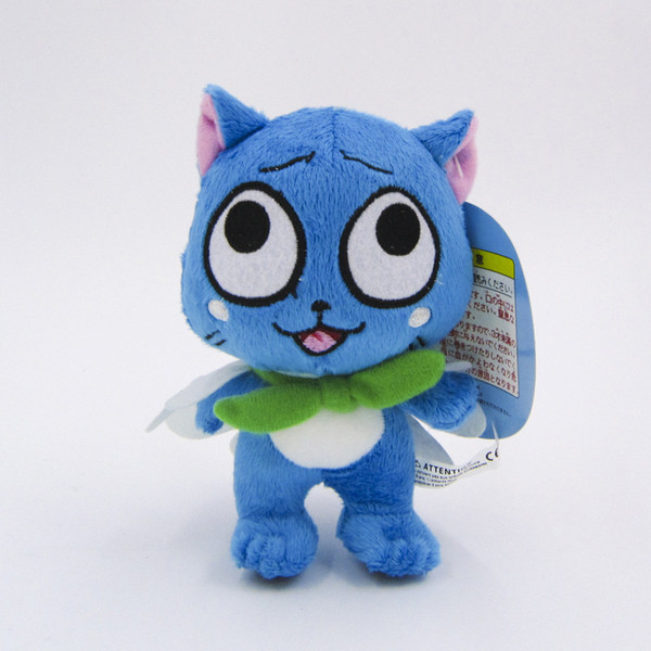 Fairy Tail Plush Toys Cute Happy Cat 6 inch 16cm Dolls Stuffed Figure Toys Children's Gifts Hot Sale