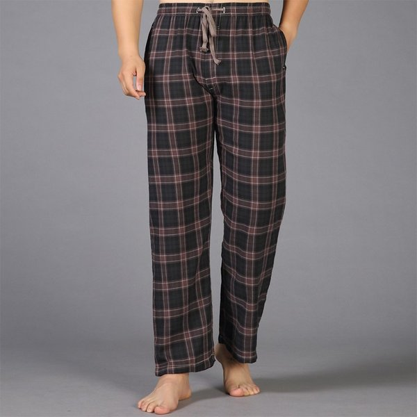 Summer Cotton Sleep Bottoms Mens Pyjama Simple Sleepwear Pants Pijamas for Male Sheer Mens Pants Pijama Trench Plus Size home