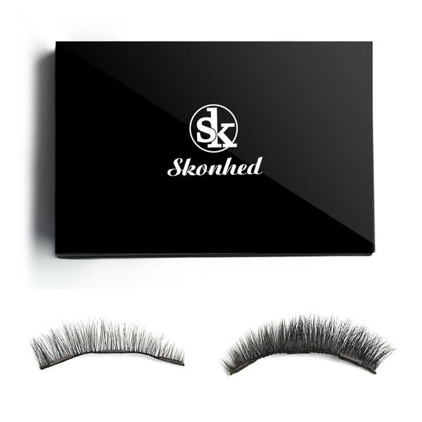1 Box X9 Reusable Mink Hair Triple Magnetic False Eyelashes Handmade Cilia Luxurious Thick Magnet Eye Lashes Makeup Extension