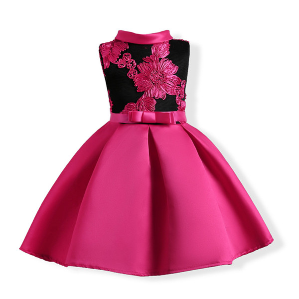 51702de1003ea 2019 10 Years Summer Girls Dress 2018 New Kids Embroidery Flower Party  Princess Dresses For Girls Prom Gown Bowknot Children From Anglestore,  $10.05 | ...