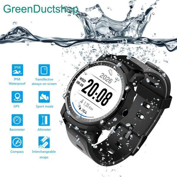 FS08 smart Orologio da uomo IP68 impermeabile GPS Sport Fitness Tracker Cronometro cardiofrequenzimetro da polso Orologio per Android