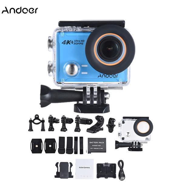Andoer AN100 Action Kamera Ultra HD 4 Karat WiFi Sport Action Kamera Wasserdichte 30MP 1080 P / 120fps 2,0