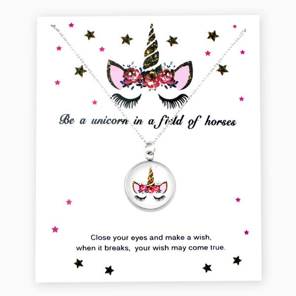 Licorne Argent Pendentifs Chaîne Colliers Flamants Roses Bee Charms Femmes Hommes Unisexe À La Mode Bijoux Amant Cadeau De Fête De Noël