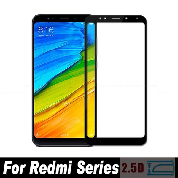 0.3mm 2.5D Full Cover Screen Protector Protective Film For Xiaomi Redmi S2 Note 5 Pro AI Plus 5A Prime Y1 Lite Tempered Glass