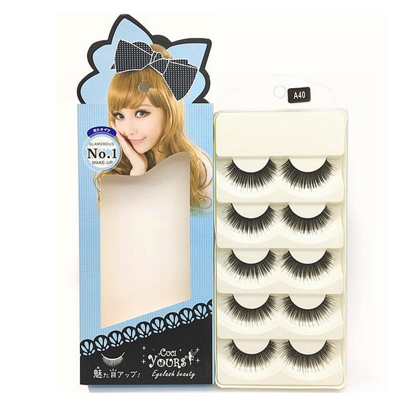 5 pair High Quality False Eyelashes Handmade Natural Long Thick Eyelashes Soft Fake Eye Lash extensions