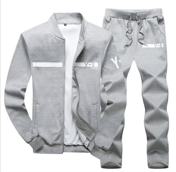Yeni Marka Tasarımcı Eşofman Erkekler Lüks Kış Spor Hoodies Ceket Gevşek Erkek Eşofman Fermuar Setleri Büyük Boy Ceket Pantolon