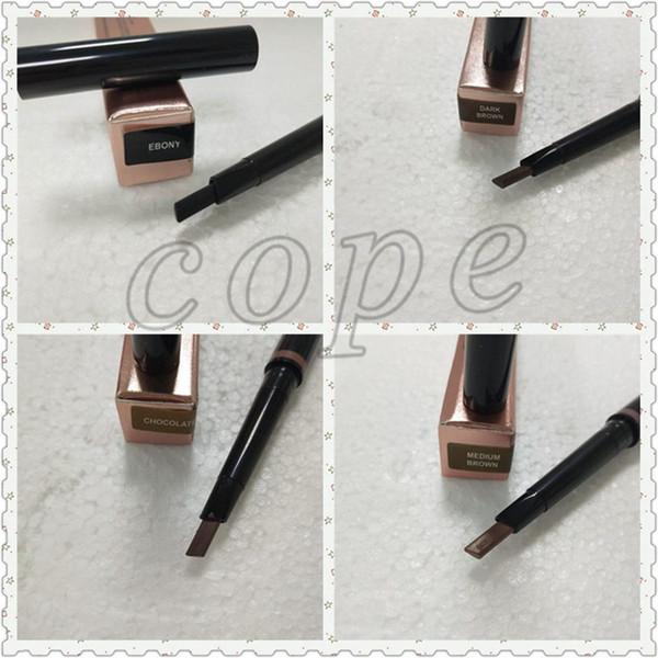 Hot Selling Makeup Double Eyebrow Pencil Brow Pencil Ebony Dark