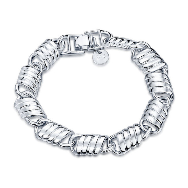 Good A++ !Chain chain hand chain925 silver bracelet JSPB526;low price girl women sterling silver plated Charm Bracelets