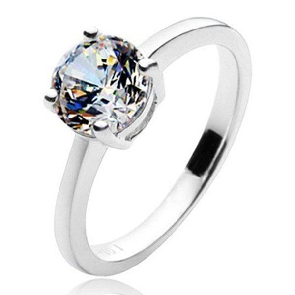 1CT Brief Appoint Propose SONA Hears and Arrows Diamond Ring Engagement Jewelry Women Sterling Silver 18K White Gold S923