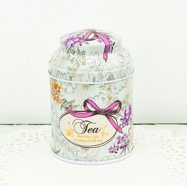 Printing Flower Tin Box Mini Nette Blechdose Kreative Vintage Eisen Teekanne Home Storage Boxen