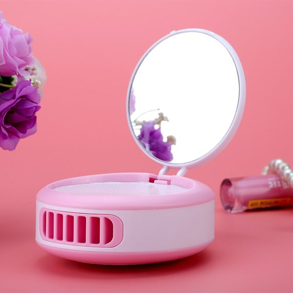 New Hot Sale Fashion Women Mini Fan Makeup Mirror USB Rechargeable Cooling Eyelash Blower Cosmetic Beauty Health Tool