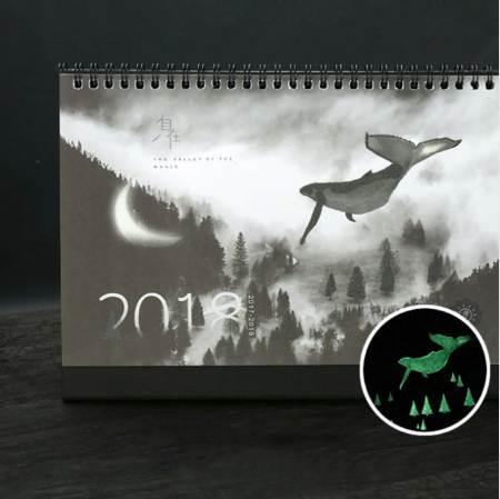 top popular 1 Pcs set Novelty 2018 Creative luminous calendar Large Desktop Paper Calendar dual Daily Scheduler Table Planner 2020