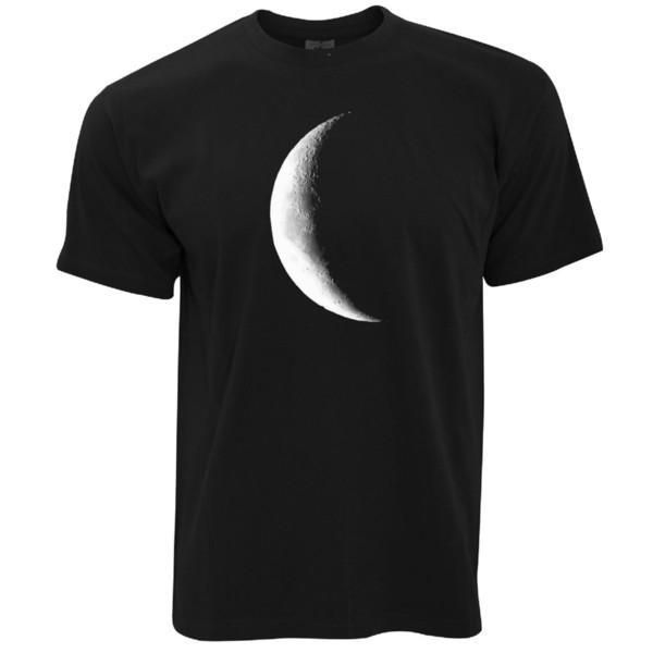 Half Moon Galaxy Space Crescent Lunar Stars Astronomy Mens T-Shirt
