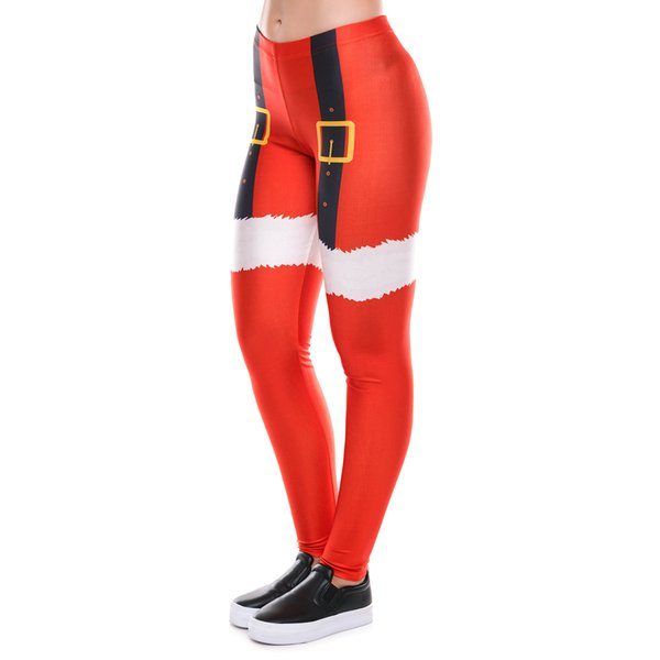 Christmas costume women's adult sports pants New print leggings Europe and the United States explosion models