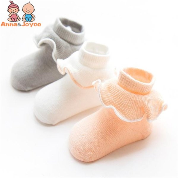 3pairs/lot Baby Socks Spring Summer Autumn Lace Socks Children Infant Girls Cotton Suit 0-3 Years