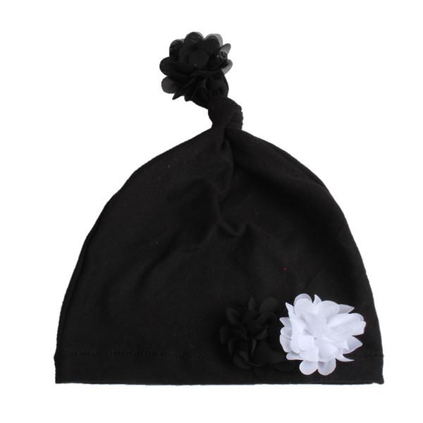 Black flower hat