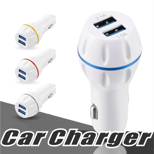 best selling Universal Car Charger 3.1A Dual USB Port Car Chargers Portable Travel Charger adapter For iphone 7 8 X Samsung S8 S9 Smartphone OM-P6