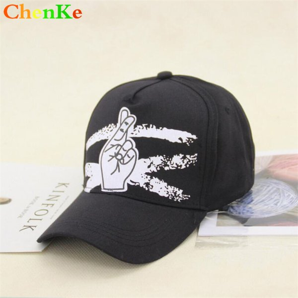ChenKe Newest Finger Print Double Buckle Baseball Cap Unisex Fashion Dad Hats Adjustable Acrylic Snapback Hats Casual Caps Men