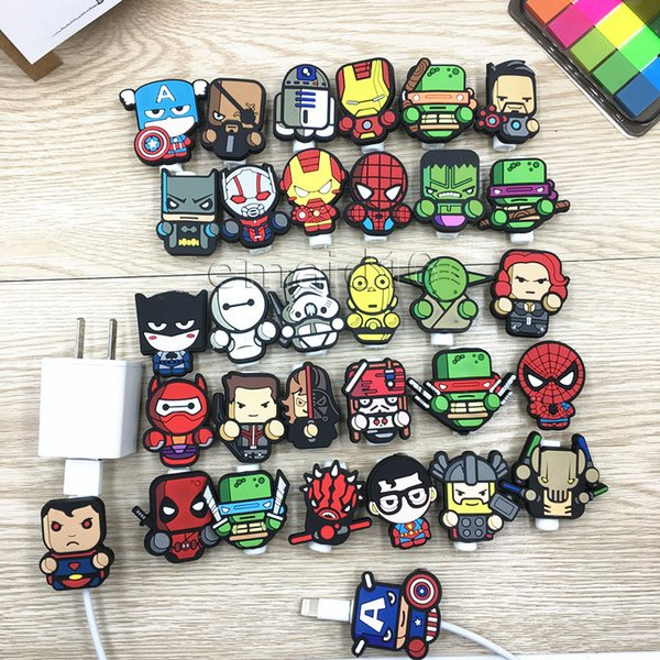 2018 neue Gute Multi Muster Cartoon USB Kabel Kopfhörer Protector Kopfhörer Linie Saver Für Mobiltelefone Tablets Ladekabel Datenkabel