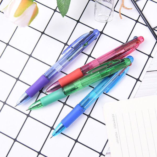 2 Stück 0,7 mm Multicolor Kugelschreiber Rot Grün Blau Schwarz Refill Pen Retractable