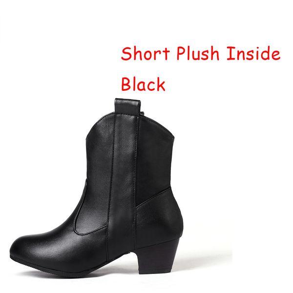 short plush black