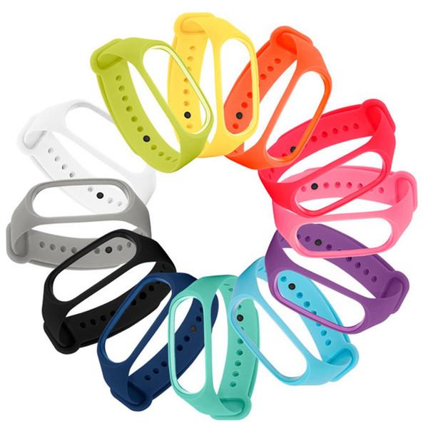 multicolor millet inteligente pulseira watchband substituir para mi banda 3 pulseira esporte silicone banda 2018 novo