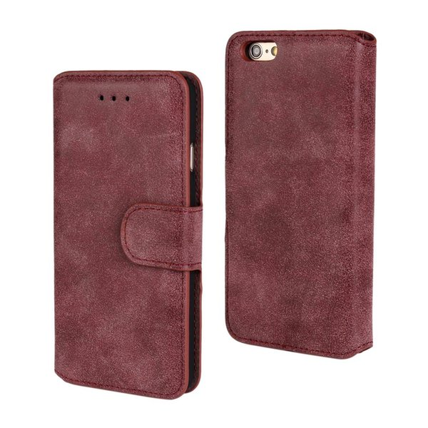 Folio Folding Wallet Case PU Leather Flip Cover for Apple iPhone 5,6,7,8 with Card Slots and Kickstand