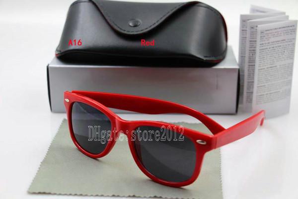 red frame black lens