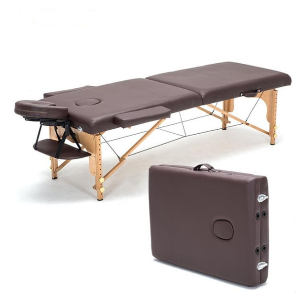 Portable Folding Massage Bed with Carring Bag Professional Adjustable SPA Therapy Tattoo Beauty Salon Wooden Massage Table Bed