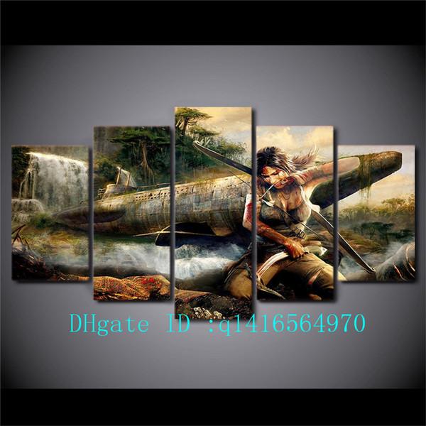 Compre Tomb Raider Group 5 Piezas Impresiones En Lienzo Arte De La ...