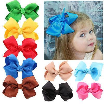 20PCS Pearl Flower hairband accessories Child Baby Girls headband kid Hair Barrette Clip Hairpin Bow Headwear